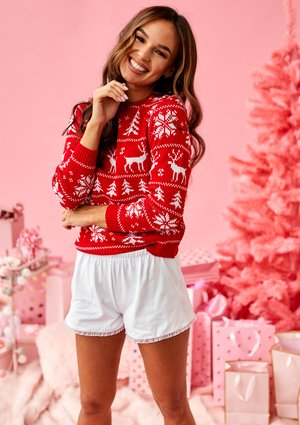 RED WINTER TIME SWEATER ILM A24