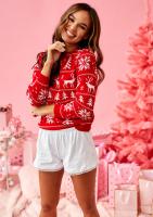 Sweter Winter Time Czerwony ILM A24