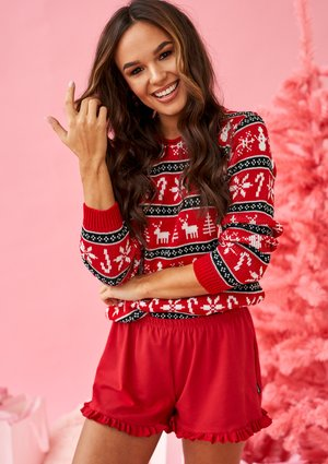 RED WINTER SWEATER ILM A45