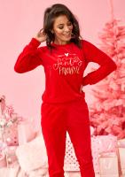 """Bluza z weluru """"Santas Favourite"""" Czerwona ILM"""