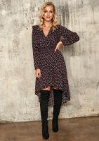 Asymetryczna sukienka z wiskozy w Łączkę