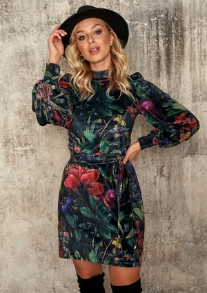 MINI VELVET DRESS IN SECRET GARDEN PRINT