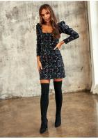 Sukienka z bufką w rękawie w Kwiatki