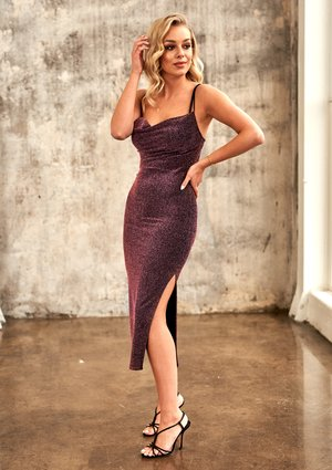 PLUM MIDI CAMI DRESS