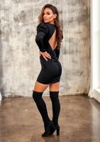Mini sukienka z wycięciem na plecach Czarna