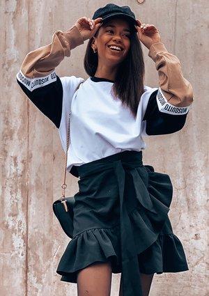 Bluza ze wstawką logo sleeve  ILM