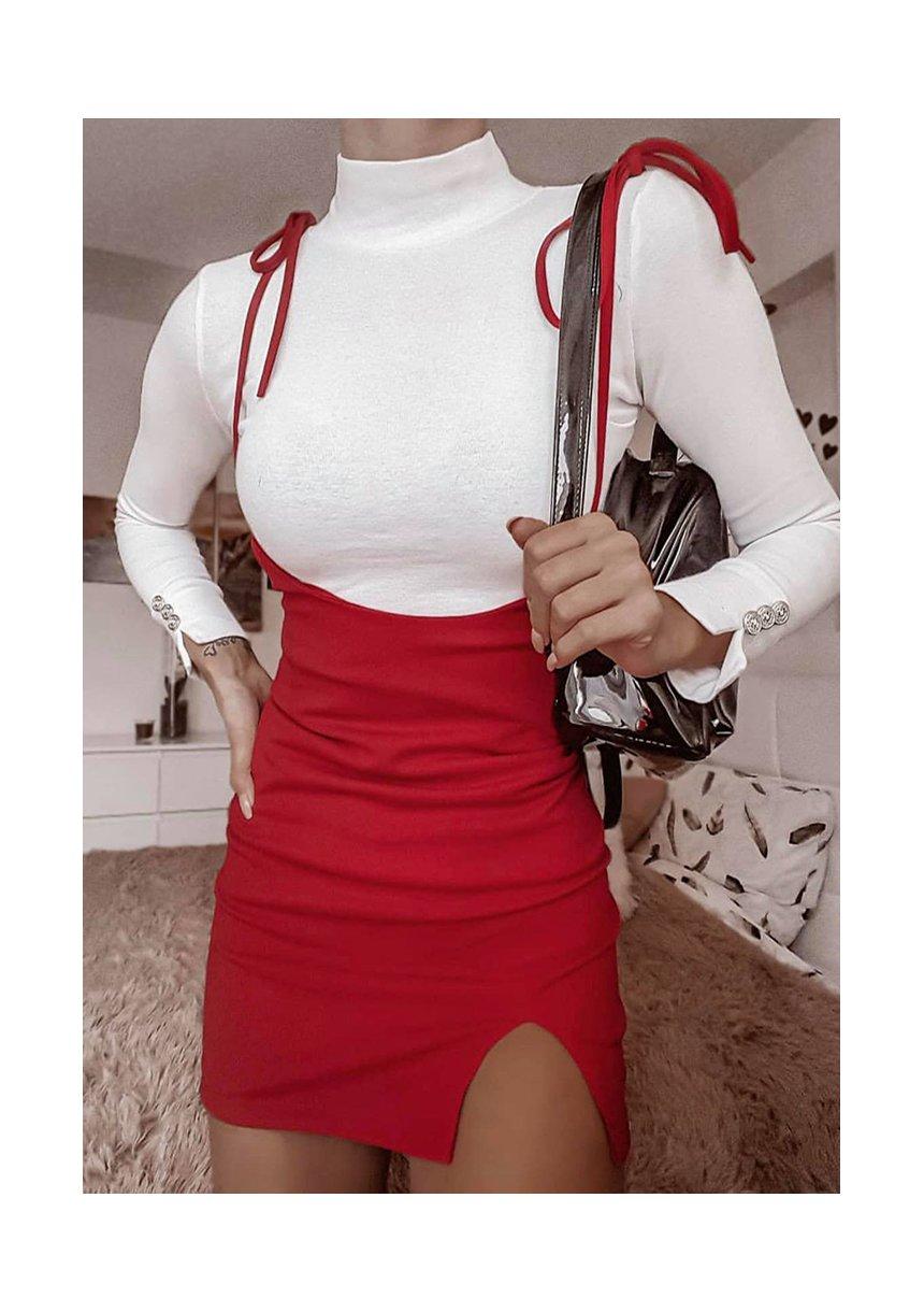 Spódniczka z wiązanymi troczkami Czerwona