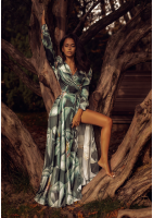 Sukienka maxi Dark Leaves Czarna