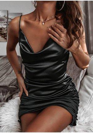 Sukienka z satyny Mini Czarna