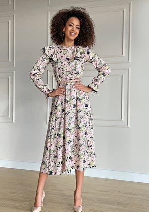 Sukienka midi z falbanami Spring garden