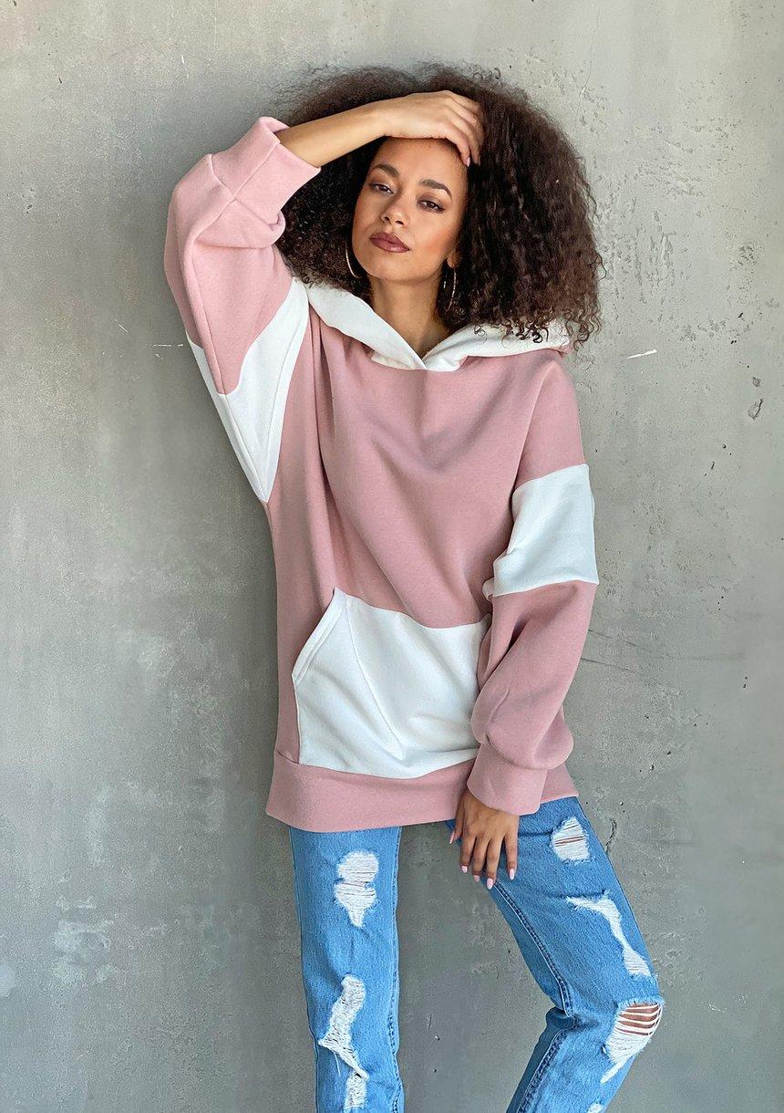 Oversizowa bluza z kapturem Różowa ILM