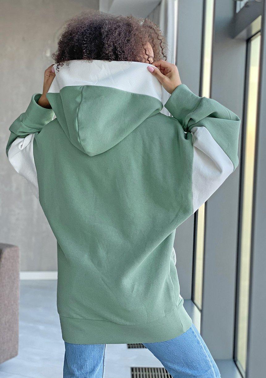 Oversizowa bluza z kapturem Miętowa ILM