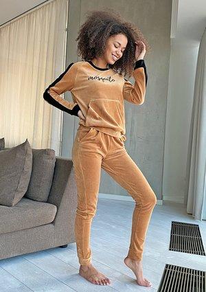 Spodnie z weluru Miodowe ILM