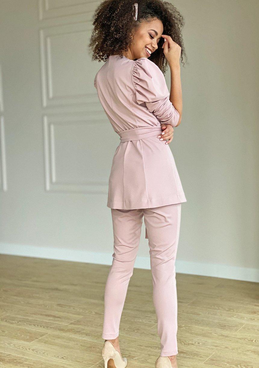 Klasyczne spodnie Pudrowe