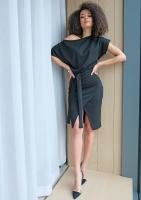 Sukienka midi z kimonową górą Czarna