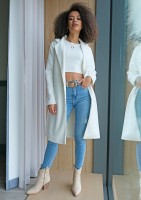 Krótki bawełniany top Biały ILM