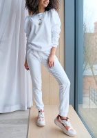 Spodnie z weluru Białe