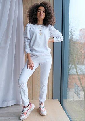 Spodnie z weluru Białe ILM