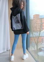 Bluza z kapturem Unicorn Queen Czarna