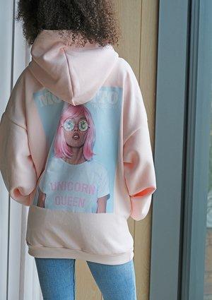 Bluza z kapturem Unicorn Queen Różowa