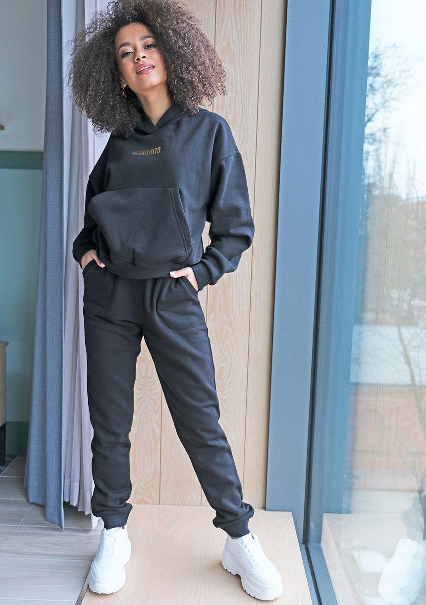 Bluza z kieszenią i kapturem  Czarna ILM