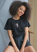 "T-shirt ""rose gold MSQ"" Czarny ILM"