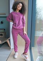 Spodnie z weluru Fioletowe ILM