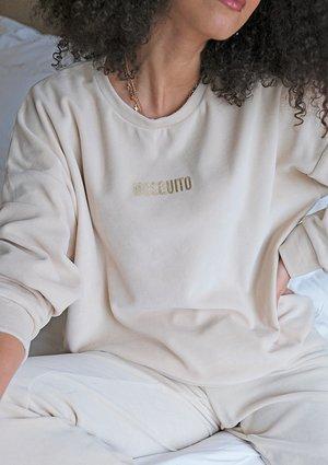 Bluza z weluru Beżowa ILM