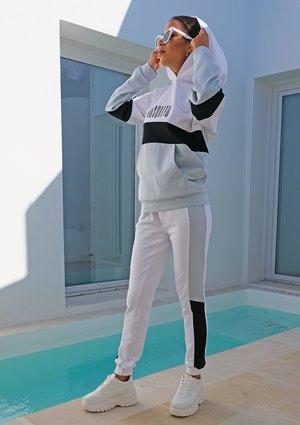 Spodnie ze wstawką pastel ILM Błękitne