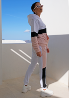 Bluza ze wstawką pastel ILM pudrowa