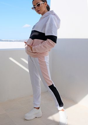 Spodnie ze wstawką pastel ILM pudrowe