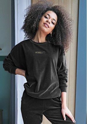 Bluza z weluru Czarna ILM