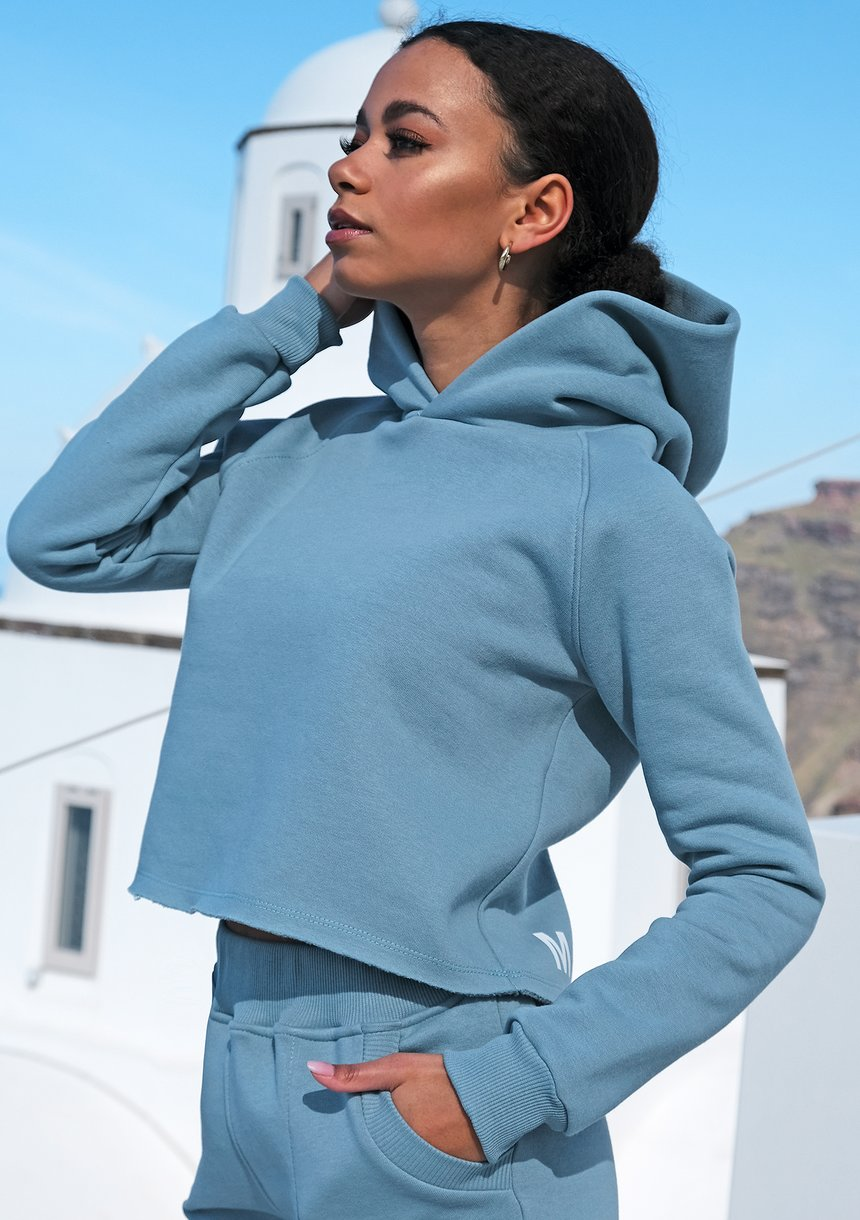 Bluza z kapturem ILM niebieska