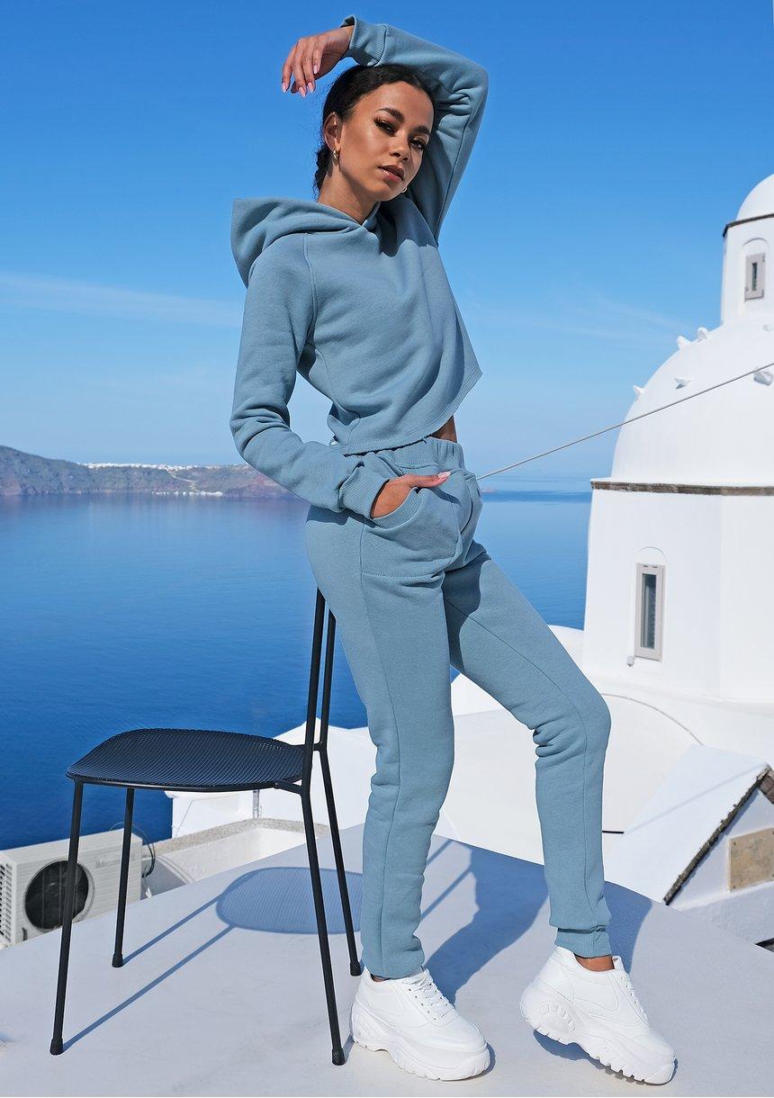 Bluza z kapturem niebieska ILM