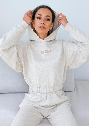 Linen knitwear sweatshirt with lace details ILM