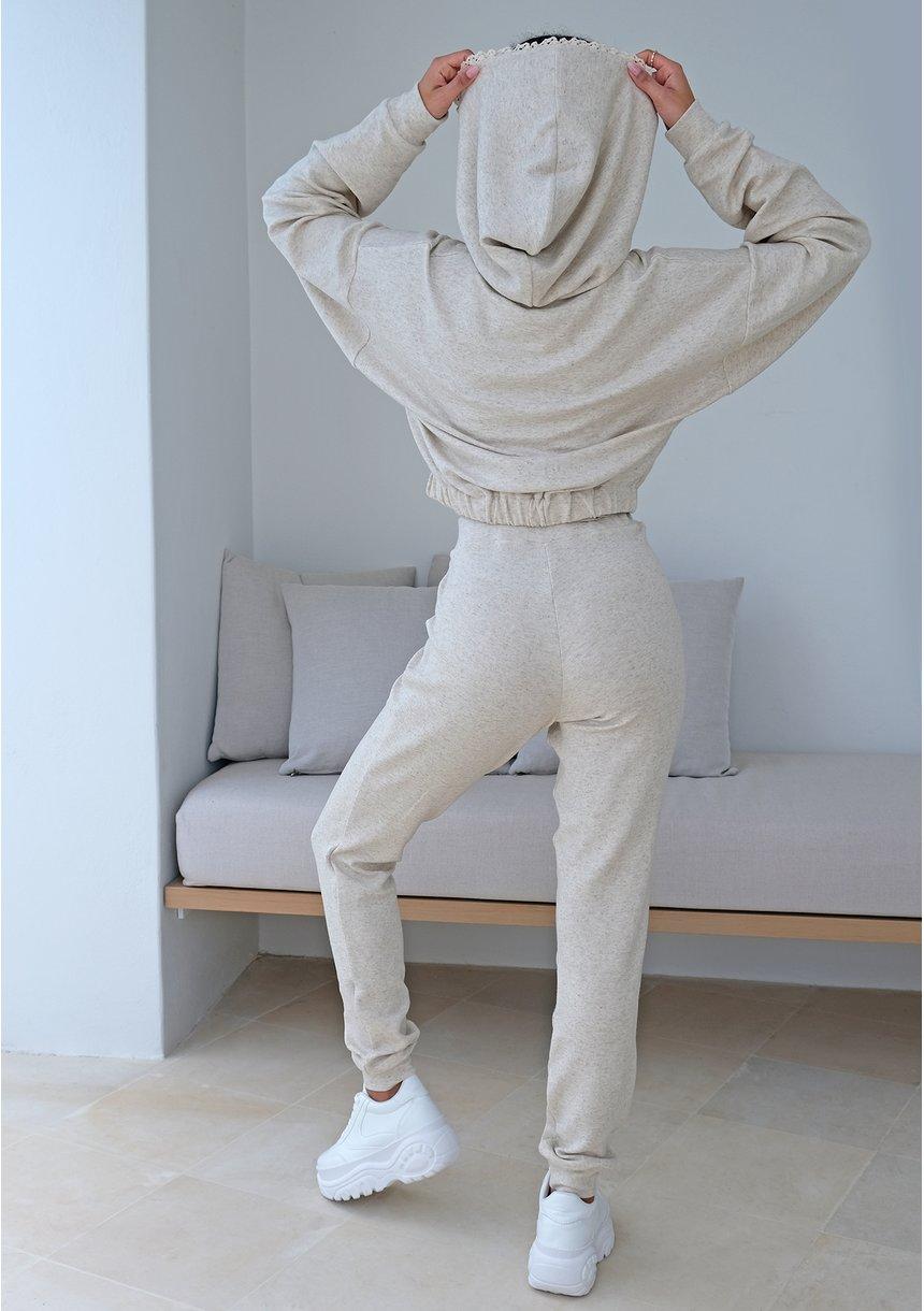 Spodnie z dzianiny z lnem ILM