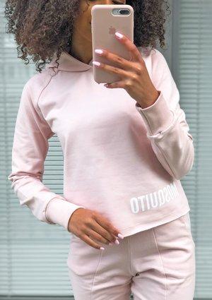 Pastel pink cotton sweatshirt ILM