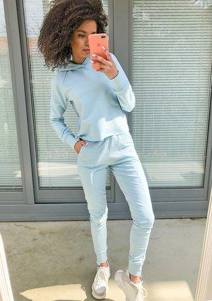 Spodnie bawełniane pastel Błękitne ILM