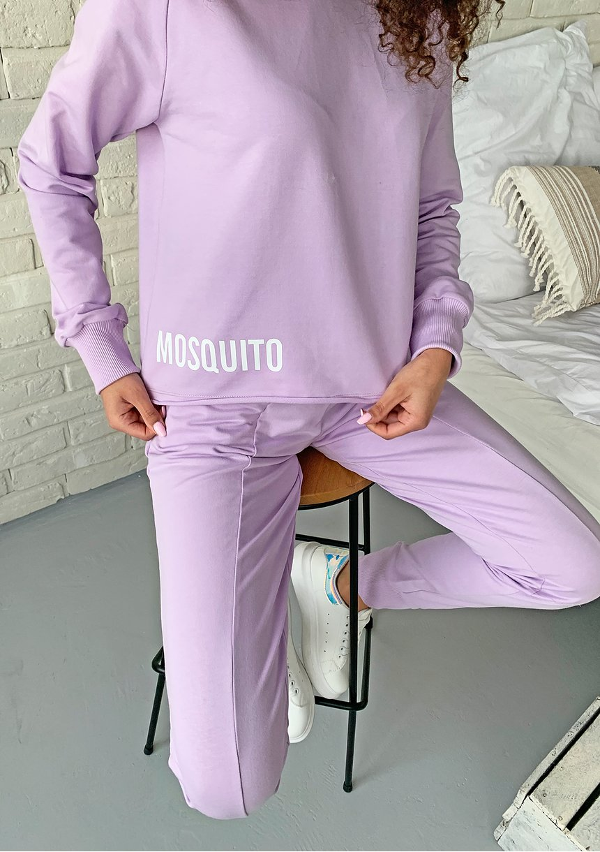 Spodnie bawełniane pastel Lila ILM