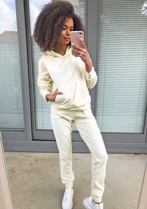 Welurowe spodnie w kolorze Bananowym ILM