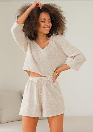 Beige cotton shorts ILM A54