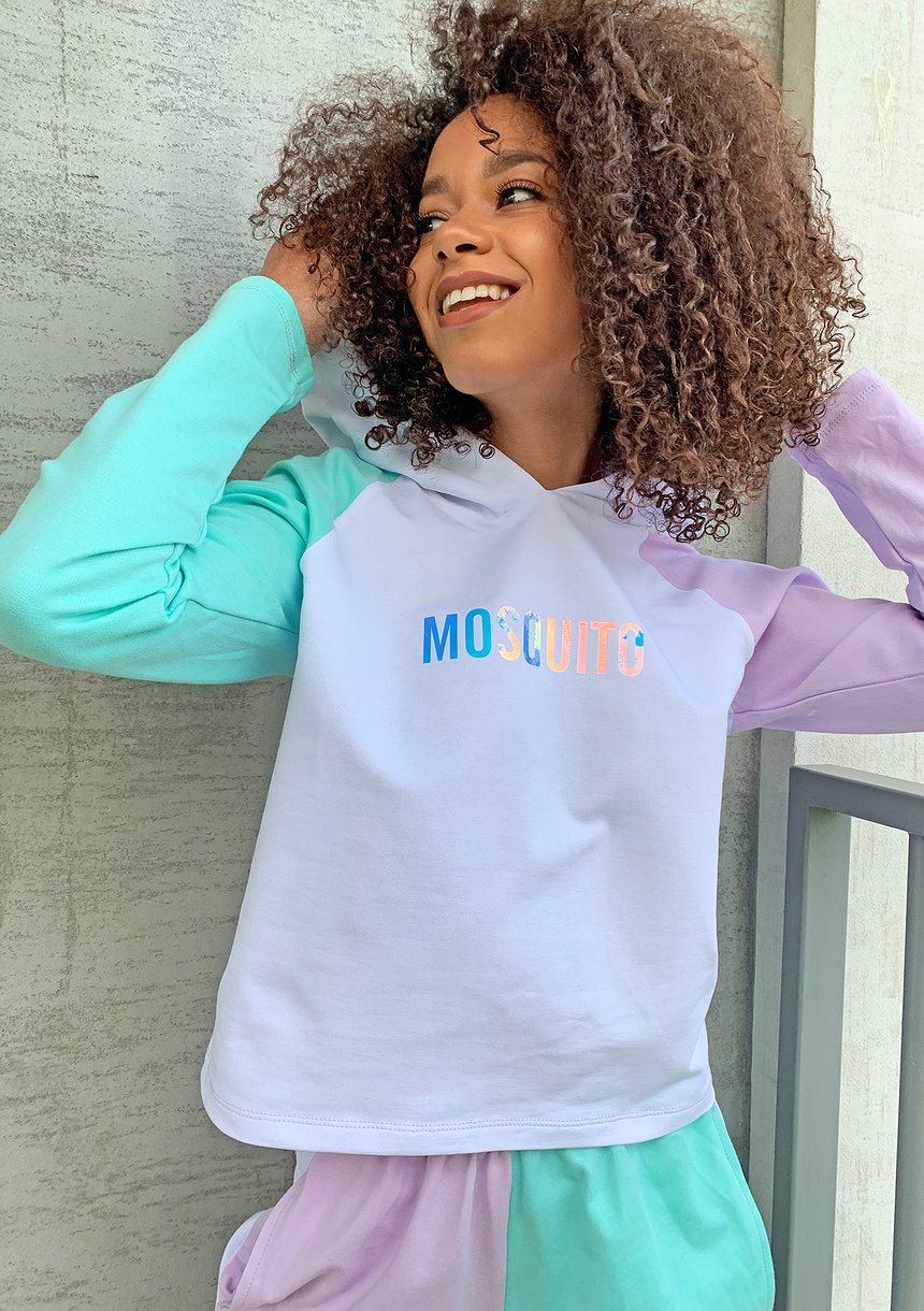 Bluza z łączonych kolorów Miętowa ILM