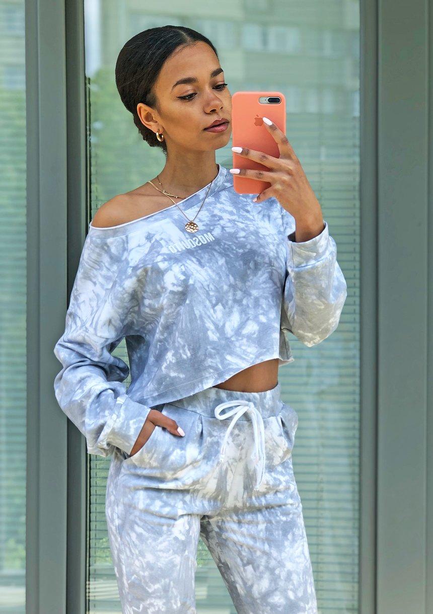 Bluza z efektem sprania Szara ILM