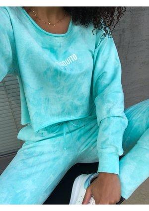Mint acid wash cropped sweatshirt ILM