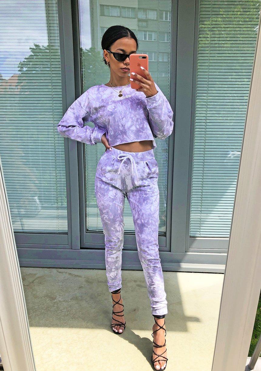 Spodnie z efektem sprania Lila