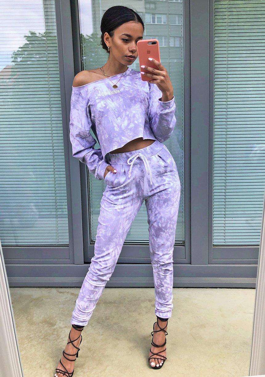 Spodnie z efektem sprania Lila ILM