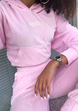 Pink velvet hoodie ILM