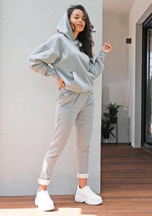 Grey cotton pants ILM
