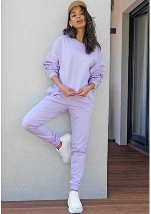 Lilac straight cut cotton pants ILM