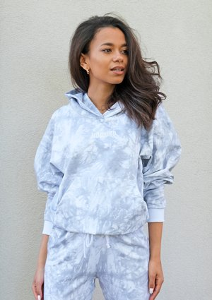 Grey acid wash hoodie ILM